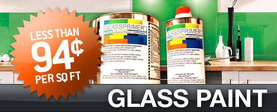 Permnantly paint on glass with Glass Paint by Glassprimer