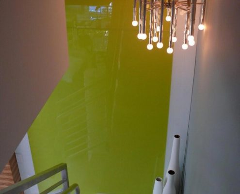 Backpainted Plexiglas using glass paint