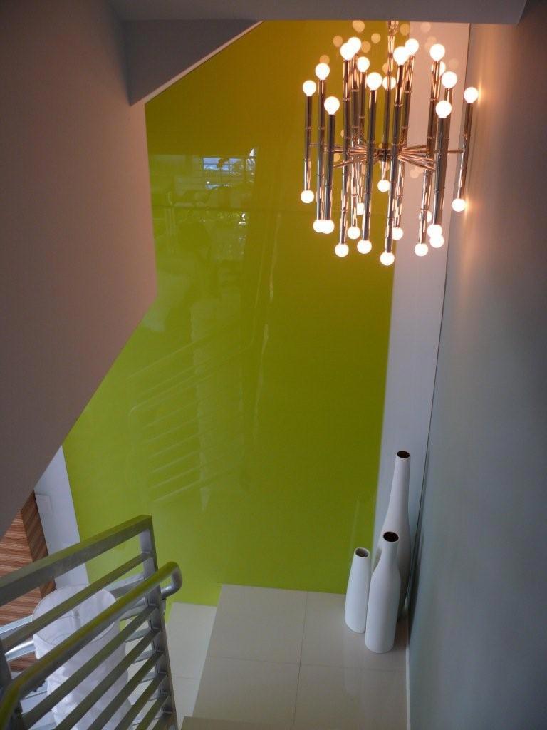 Backpainted Plexiglas using glass paint