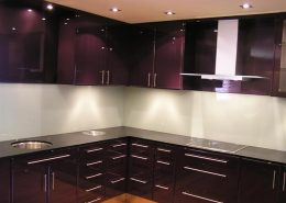 Kitchen Violet Coated glass