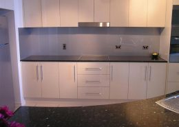 Gray Glass Paint Backsplash