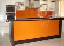 Orange Glass Painted Backspalsh