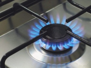 Using glass paint around the stove