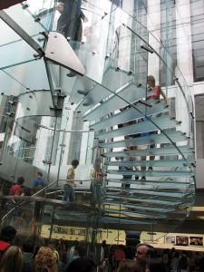 Glass staircases in interior design