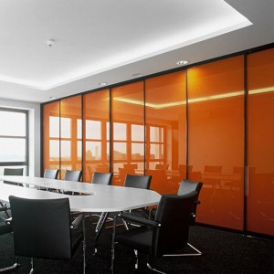 Backpainted glass room dividers