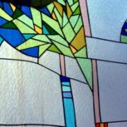Mimic stained glass with glass paint