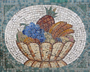 Decorating with glass: mosaics