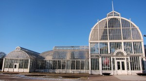 Iconic glass structures - the Palm House, Gothenburg Sweden