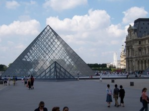 Iconic Glass Structures:  Louvre Pyramid in Paris