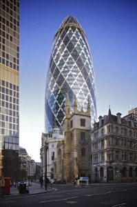 Iconic Glass structures - 30 St Mary Axe