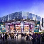 New Arena Features Unusual Glass Doors
