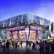 New Arena Features Unusual Glass Doors