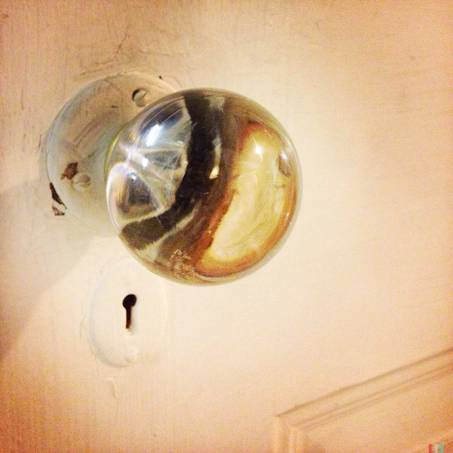 Glass doorknob sets London house on fire