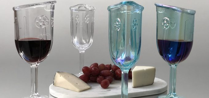 New wine glass designed to fit your face