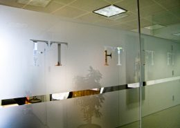 Painted glass makes a great addition to your office space