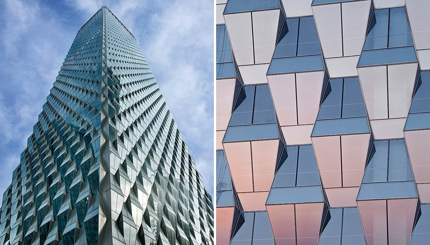 Trapezoidal glass building opens in Beijing