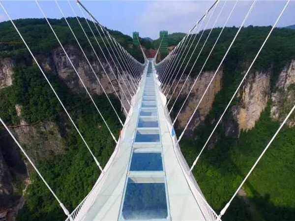Zhangjiajie Wants to Top Glass Bottomed Bridge